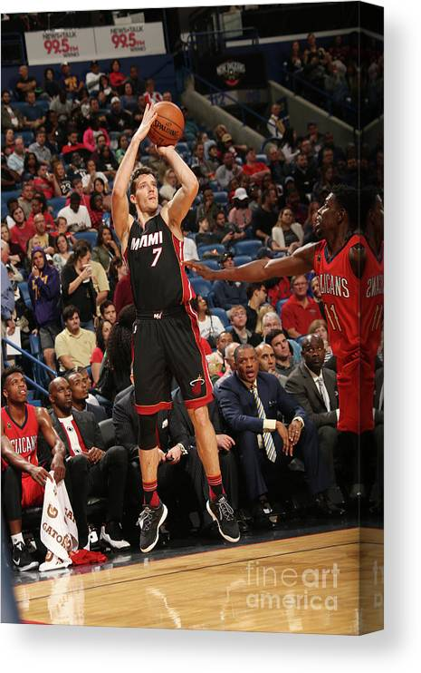 Smoothie King Center Canvas Print featuring the photograph Goran Dragic by Layne Murdoch