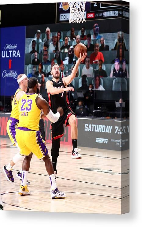 Playoffs Canvas Print featuring the photograph Goran Dragic by Nathaniel S. Butler