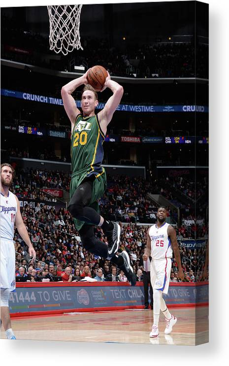 Nba Pro Basketball Canvas Print featuring the photograph Gordon Hayward by Andrew D. Bernstein