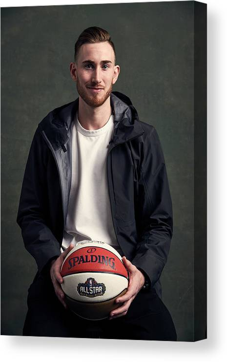 Event Canvas Print featuring the photograph Gordon Hayward by Jennifer Pottheiser