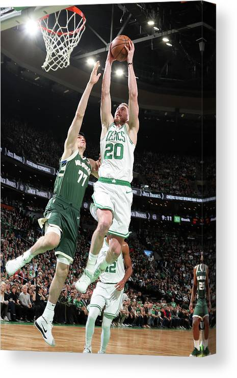 Playoffs Canvas Print featuring the photograph Gordon Hayward by Nathaniel S. Butler