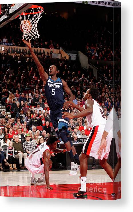 Nba Pro Basketball Canvas Print featuring the photograph Gorgui Dieng by Cameron Browne