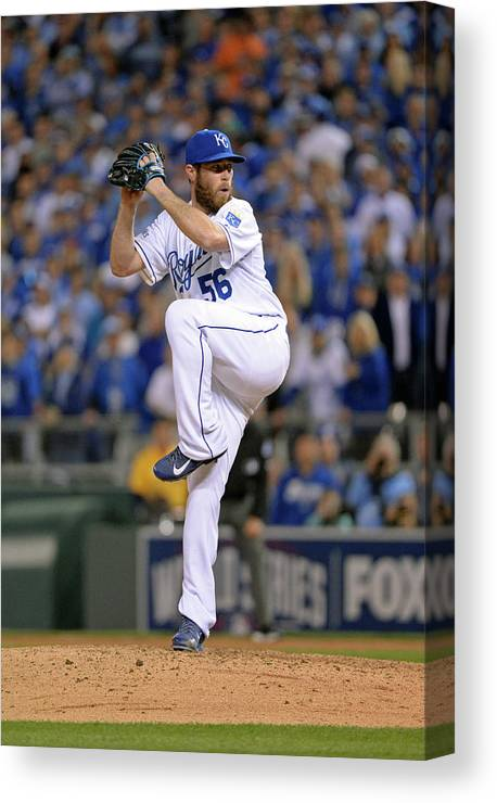 Playoffs Canvas Print featuring the photograph Greg Holland by Ron Vesely