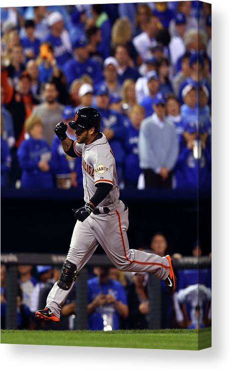 Game Two Canvas Print featuring the photograph Gregor Blanco by Elsa