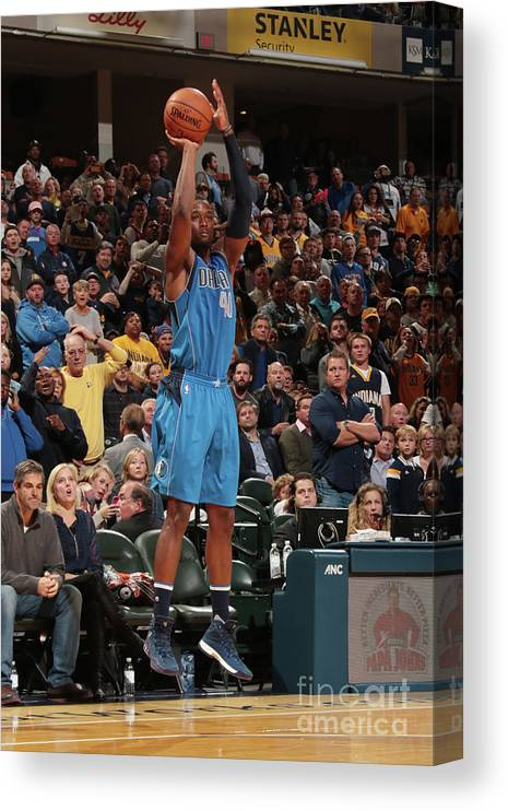 Nba Pro Basketball Canvas Print featuring the photograph Harrison Barnes by Ron Hoskins