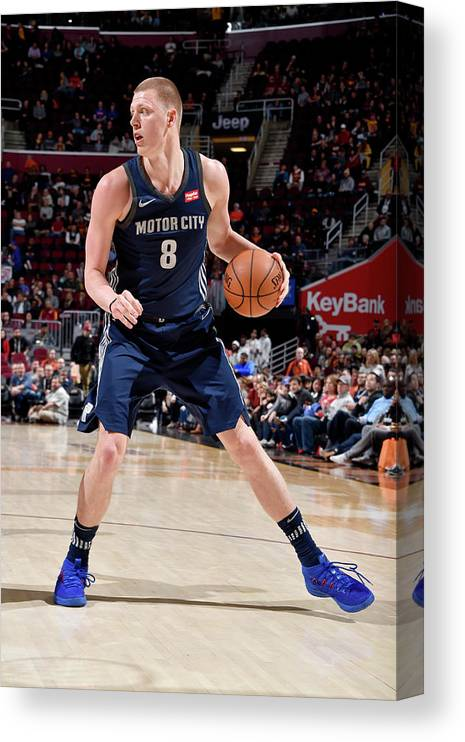Nba Pro Basketball Canvas Print featuring the photograph Henry Ellenson by David Liam Kyle