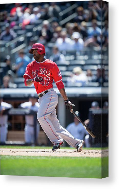 American League Baseball Canvas Print featuring the photograph Howie Kendrick by Rob Tringali