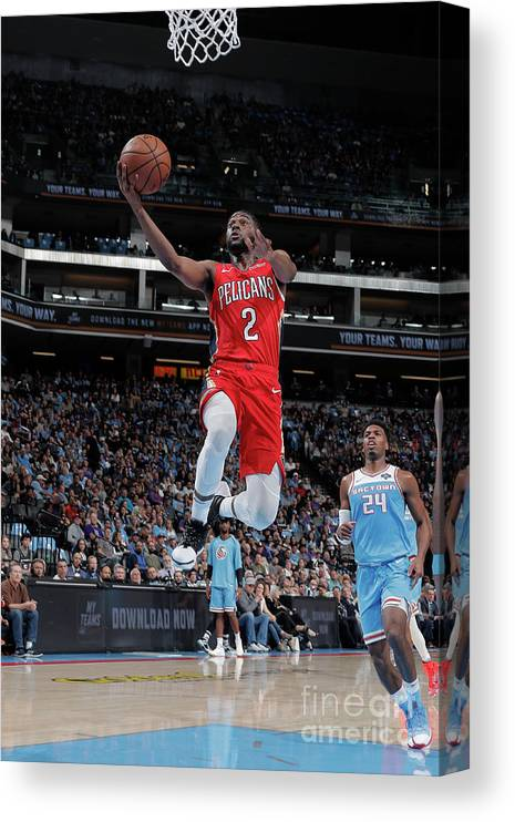 Nba Pro Basketball Canvas Print featuring the photograph Ian Clark by Rocky Widner