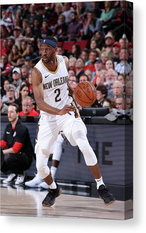 Nba Pro Basketball Canvas Print featuring the photograph Ian Clark by Sam Forencich