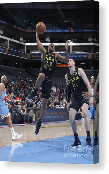 Nba Pro Basketball Canvas Print featuring the photograph Isaiah Taylor by Rocky Widner