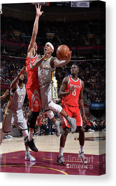 Nba Pro Basketball Canvas Print featuring the photograph Isaiah Thomas by David Liam Kyle