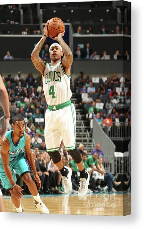 Nba Pro Basketball Canvas Print featuring the photograph Isaiah Thomas by Kent Smith