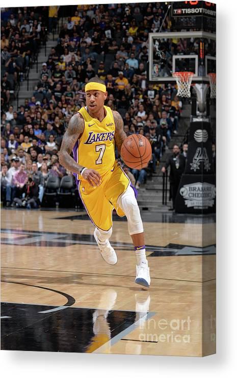 Nba Pro Basketball Canvas Print featuring the photograph Isaiah Thomas by Mark Sobhani