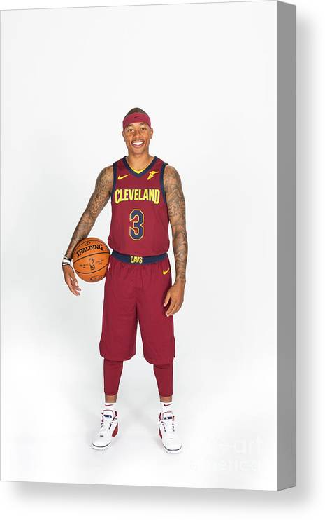 Media Day Canvas Print featuring the photograph Isaiah Thomas by Michael J. Lebrecht Ii