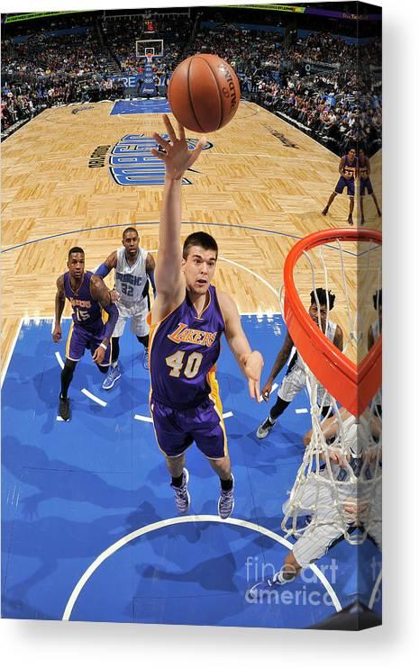 Nba Pro Basketball Canvas Print featuring the photograph Ivica Zubac by Fernando Medina