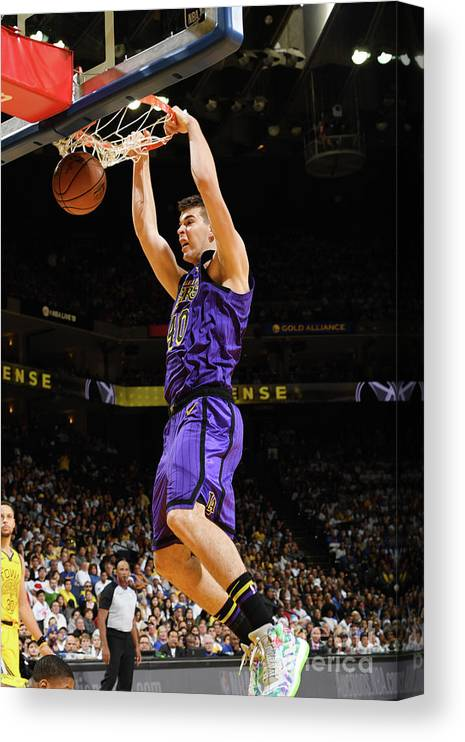 Nba Pro Basketball Canvas Print featuring the photograph Ivica Zubac by Noah Graham