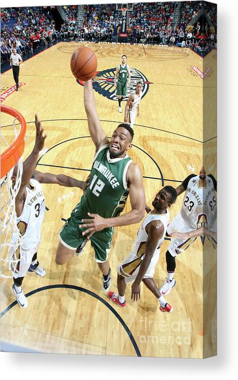Smoothie King Center Canvas Print featuring the photograph Jabari Parker by Layne Murdoch