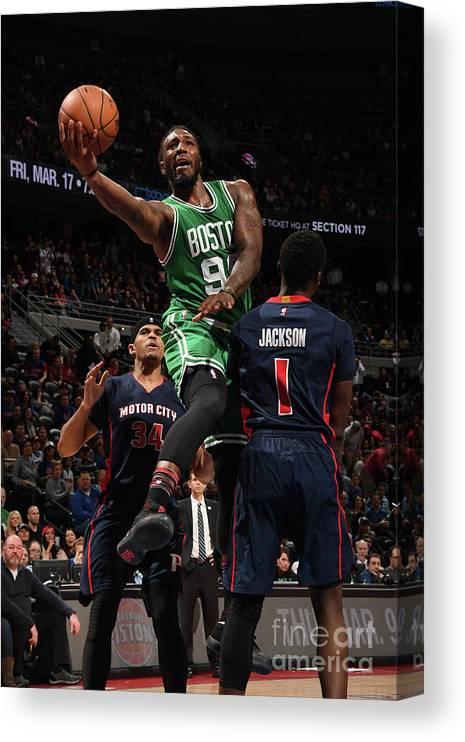 Nba Pro Basketball Canvas Print featuring the photograph Jae Crowder by Chris Schwegler