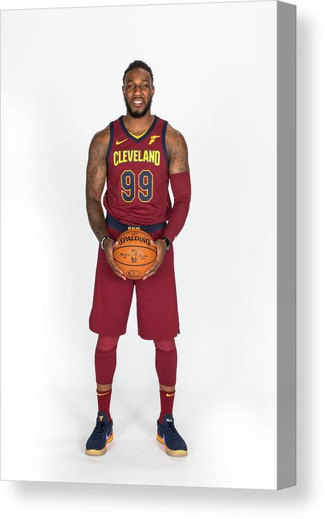 Media Day Canvas Print featuring the photograph Jae Crowder by Michael J. Lebrecht Ii