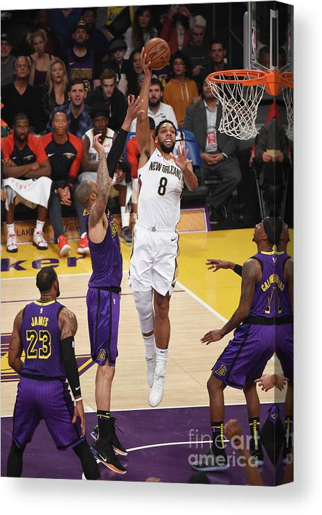 Nba Pro Basketball Canvas Print featuring the photograph Jahlil Okafor by Adam Pantozzi