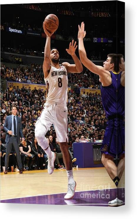 Nba Pro Basketball Canvas Print featuring the photograph Jahlil Okafor by Andrew D. Bernstein