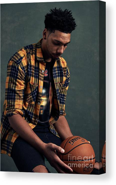 Event Canvas Print featuring the photograph Jahlil Okafor by Jennifer Pottheiser