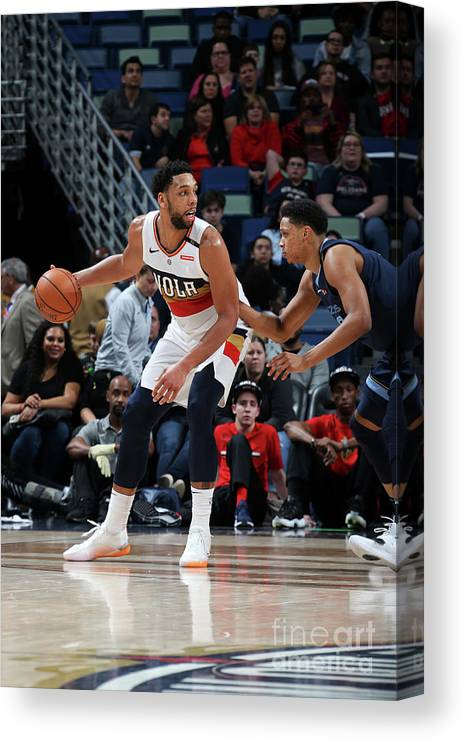 Smoothie King Center Canvas Print featuring the photograph Jahlil Okafor by Layne Murdoch Jr.
