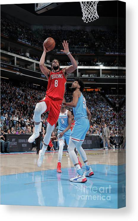 Nba Pro Basketball Canvas Print featuring the photograph Jahlil Okafor by Rocky Widner