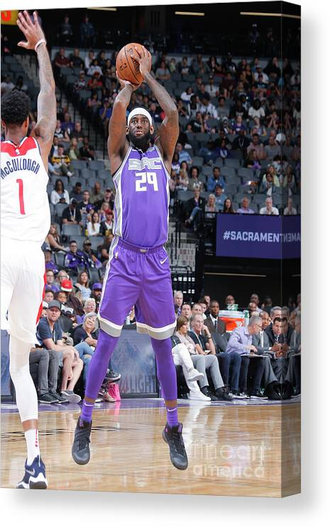 Nba Pro Basketball Canvas Print featuring the photograph Jakarr Sampson by Rocky Widner