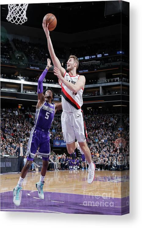 Nba Pro Basketball Canvas Print featuring the photograph Jake Layman by Rocky Widner