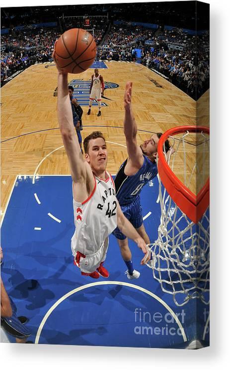 Nba Pro Basketball Canvas Print featuring the photograph Jakob Poeltl by Fernando Medina