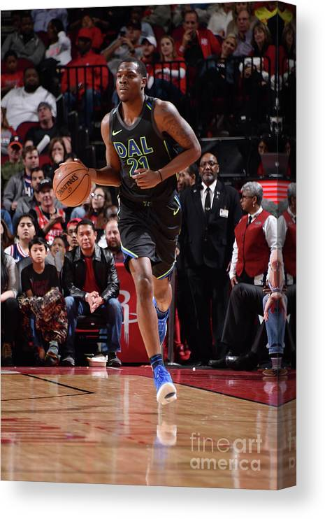 Nba Pro Basketball Canvas Print featuring the photograph Jalen Jones by Bill Baptist