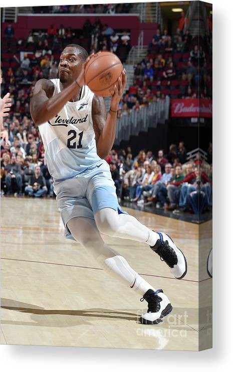 Nba Pro Basketball Canvas Print featuring the photograph Jalen Jones by David Liam Kyle