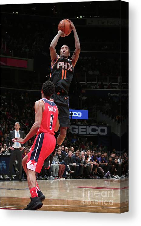 Nba Pro Basketball Canvas Print featuring the photograph Jamal Crawford by Ned Dishman