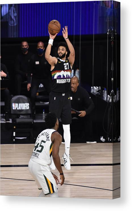 Playoffs Canvas Print featuring the photograph Jamal Murray by David Dow