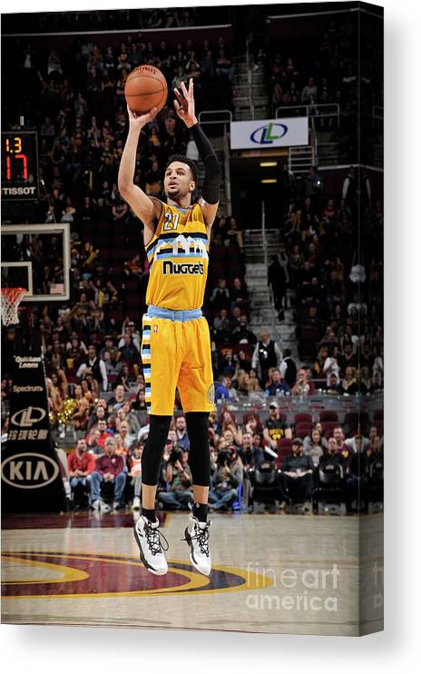 Nba Pro Basketball Canvas Print featuring the photograph Jamal Murray by David Liam Kyle