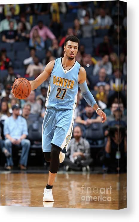 Nba Pro Basketball Canvas Print featuring the photograph Jamal Murray by Joe Murphy