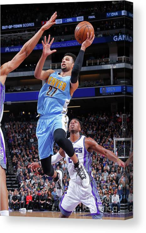 Nba Pro Basketball Canvas Print featuring the photograph Jamal Murray by Rocky Widner
