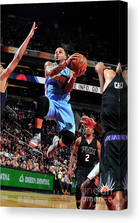 Nba Pro Basketball Canvas Print featuring the photograph Jameer Nelson by Barry Gossage