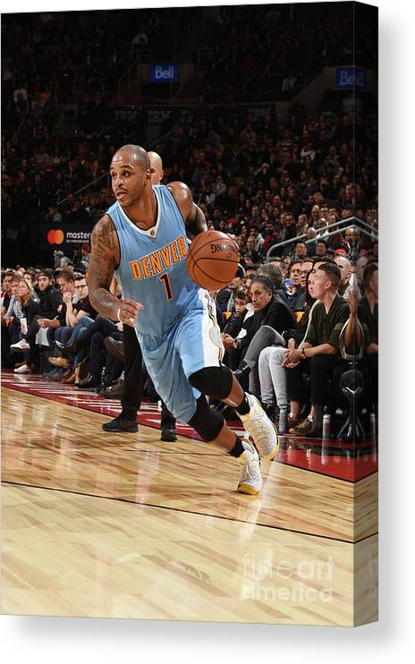 Nba Pro Basketball Canvas Print featuring the photograph Jameer Nelson by Ron Turenne