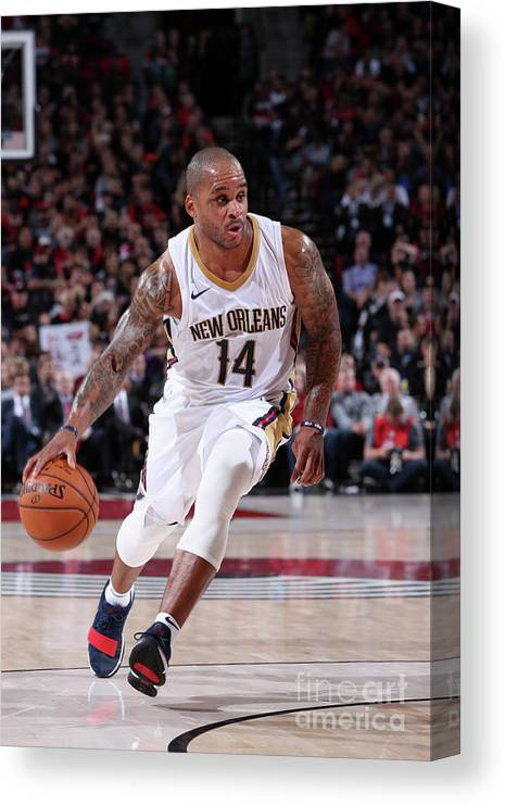Nba Pro Basketball Canvas Print featuring the photograph Jameer Nelson by Sam Forencich