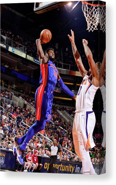 Sports Ball Canvas Print featuring the photograph James Ennis by Barry Gossage