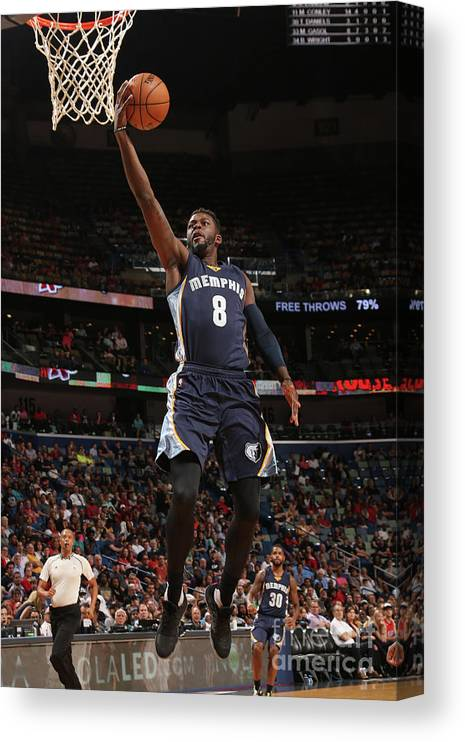 Smoothie King Center Canvas Print featuring the photograph James Ennis by Layne Murdoch