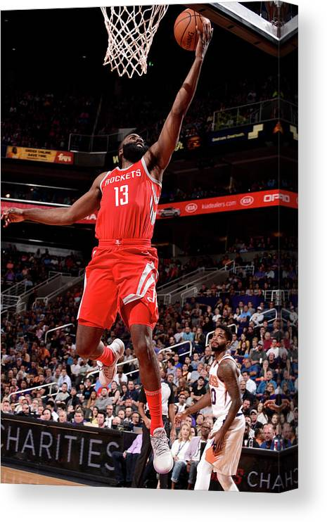 Nba Pro Basketball Canvas Print featuring the photograph James Harden by Michael Gonzales