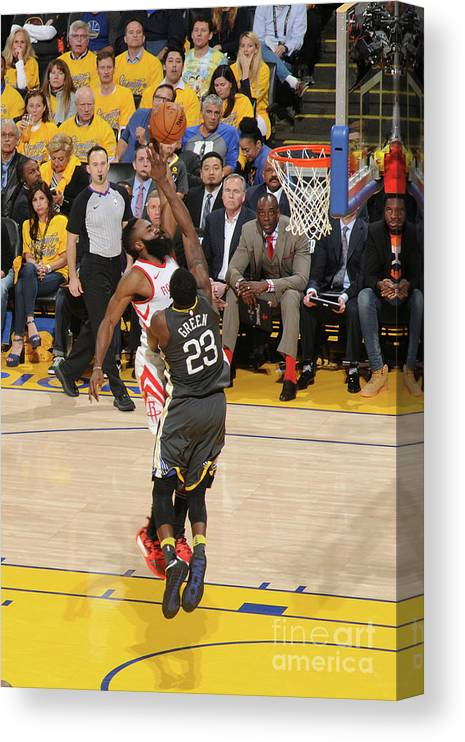Playoffs Canvas Print featuring the photograph James Harden by Noah Graham