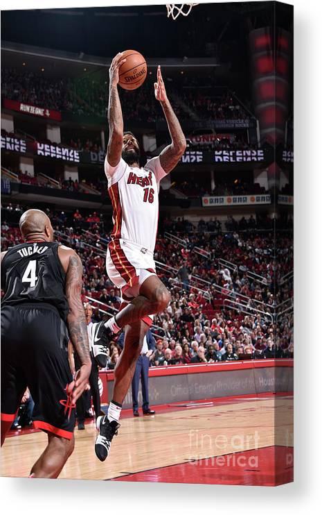 Nba Pro Basketball Canvas Print featuring the photograph James Johnson by Bill Baptist