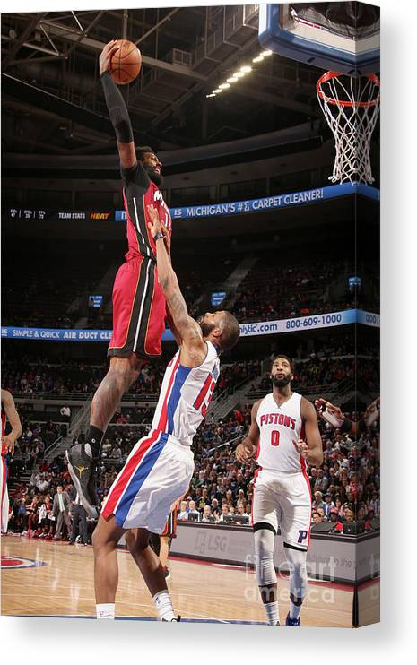 Nba Pro Basketball Canvas Print featuring the photograph James Johnson by Brian Sevald