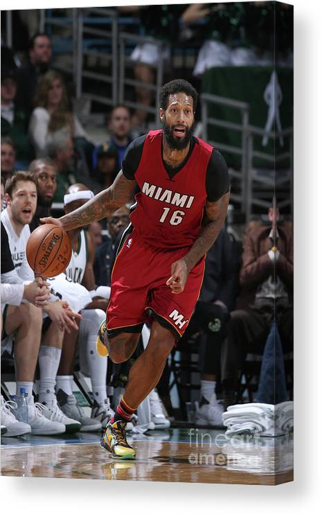 Nba Pro Basketball Canvas Print featuring the photograph James Johnson by Gary Dineen