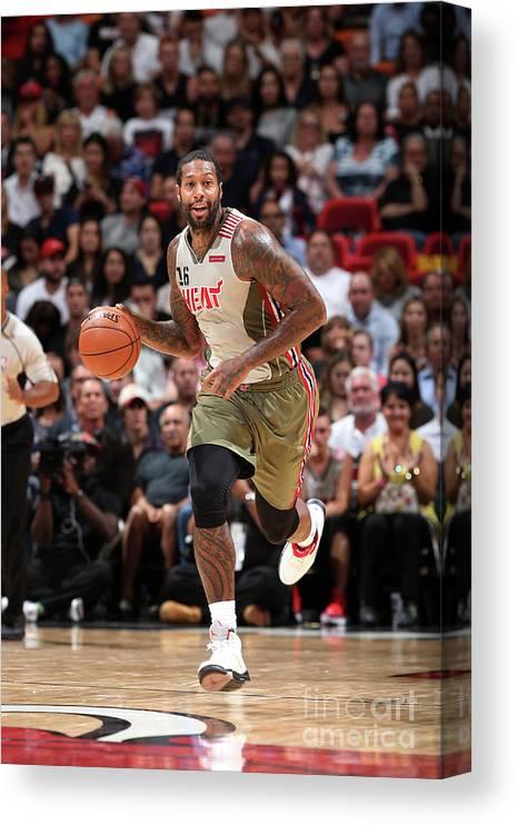 Nba Pro Basketball Canvas Print featuring the photograph James Johnson by Joe Murphy