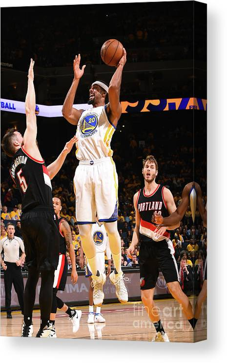 Playoffs Canvas Print featuring the photograph James Michael Mcadoo by Noah Graham